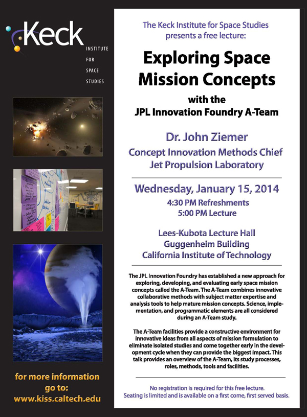Exploring Mission Concepts with the JPL Innovation Foundry A-Team