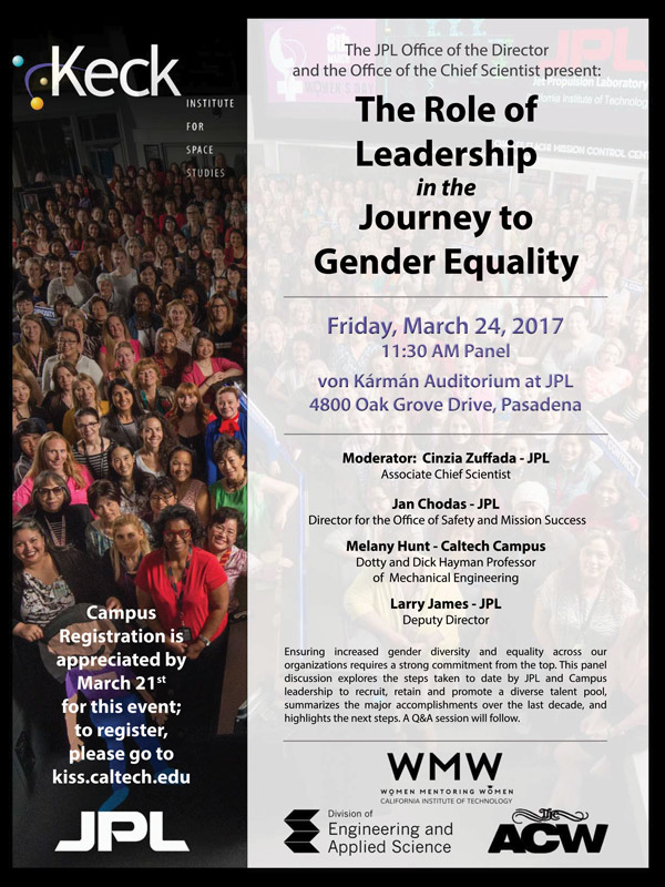 The Role of Leadership in the Journey to Gender Equality flyer