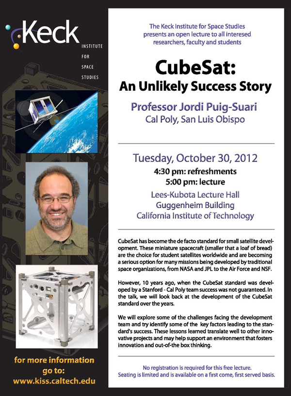 CubeSat: An Unlikely Success Story